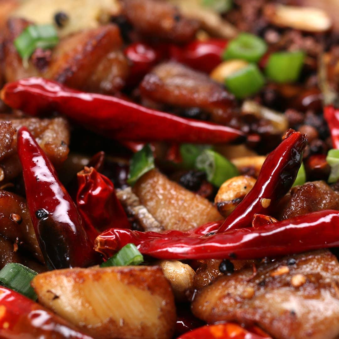 Spicy Szechuan Chicken Recipe By Tasty