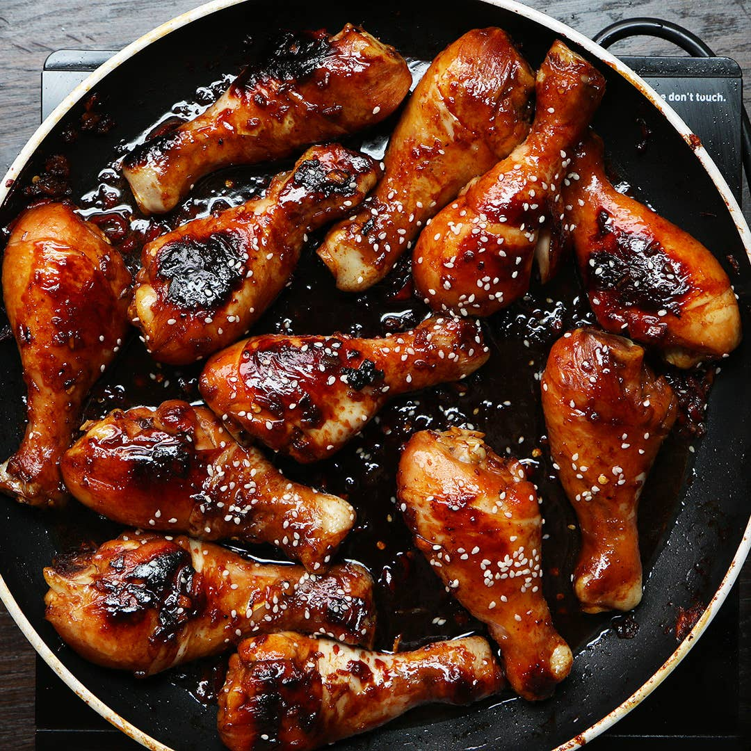 Easy Sticky Chicken Drumsticks Recipe By Tasty