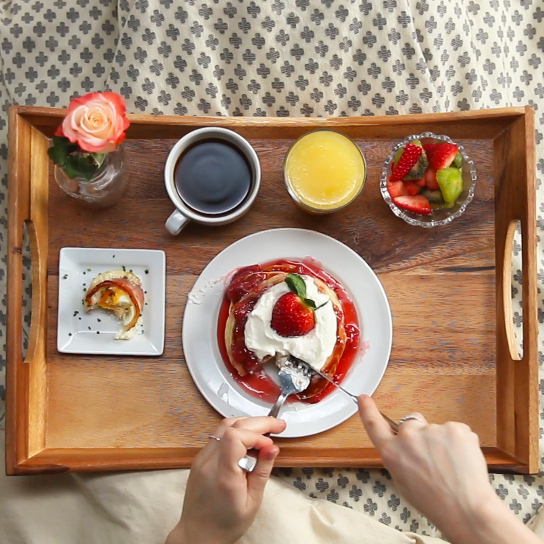 Strawberry Shortcake Pancake Breakfast In Bed Recipes