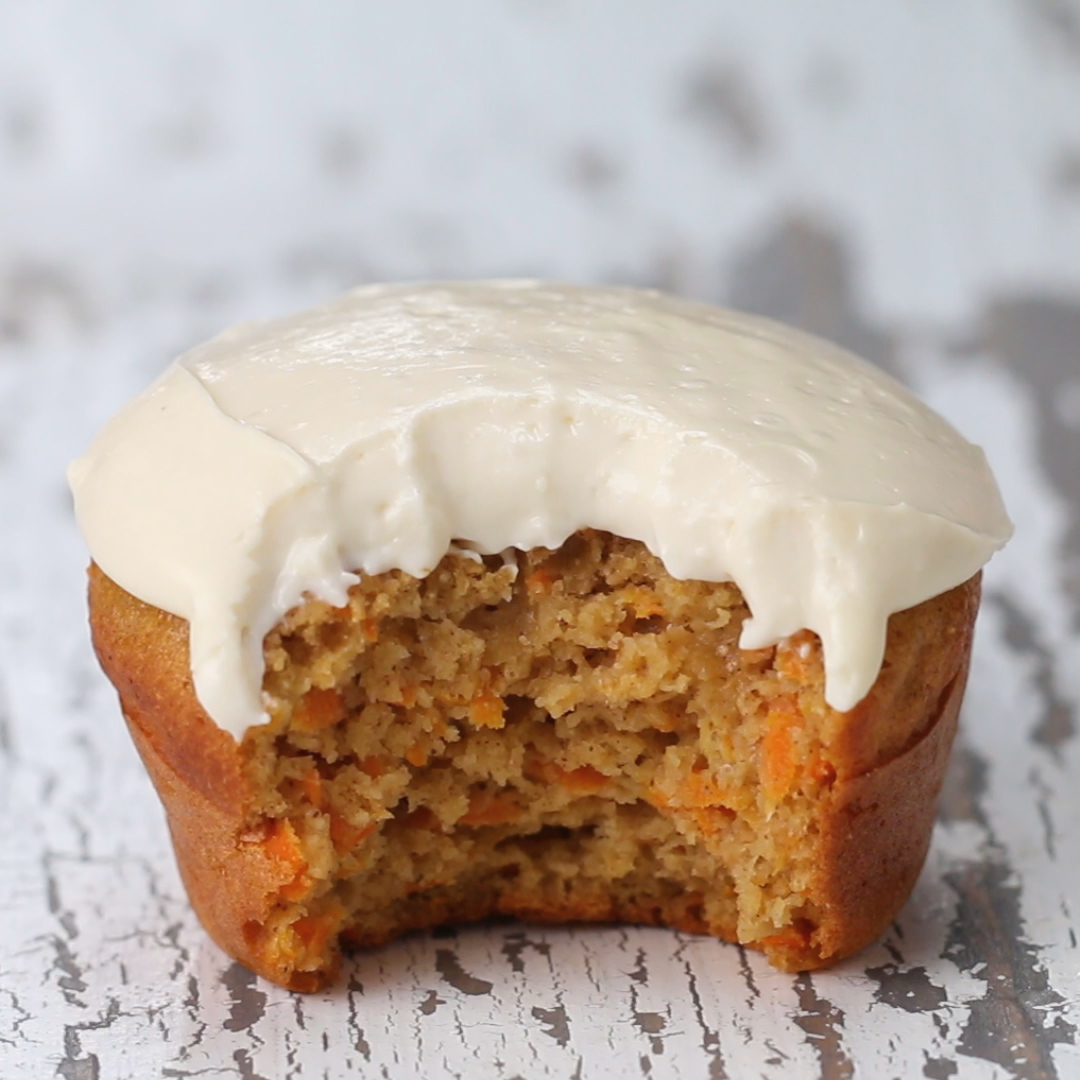 Healthy Carrot Cake Muffins Recipe By Tasty