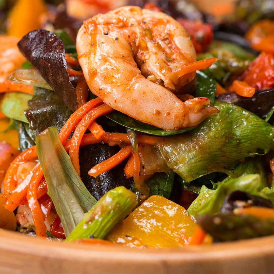 Roasted Shrimp & Veggie Salad