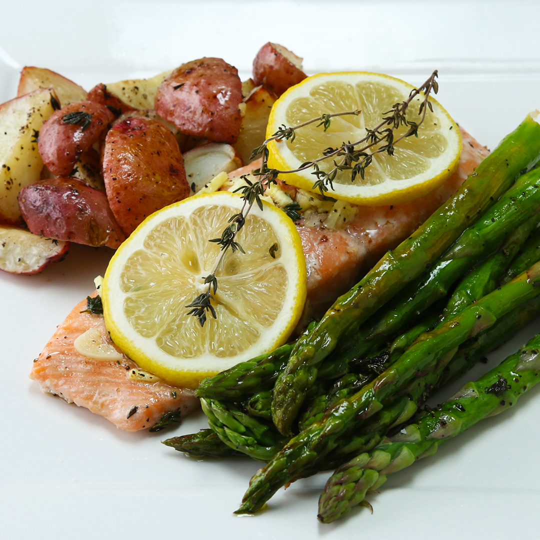 One-Pan Salmon And Veggies Recipe by Tasty image