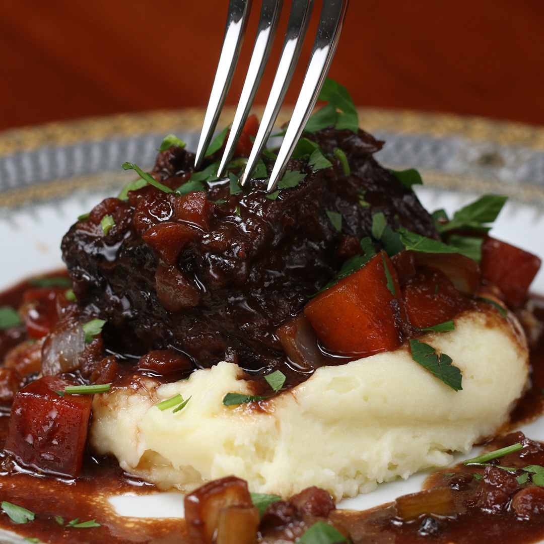 Cabernet Braised Short Ribs Recipe By Tasty