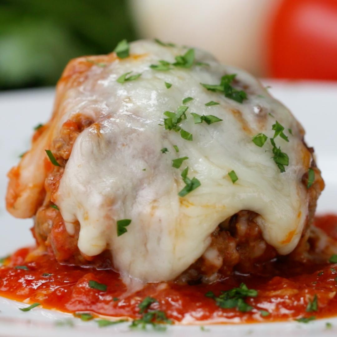 Cheesy Meatball Bake Recipe By Tasty