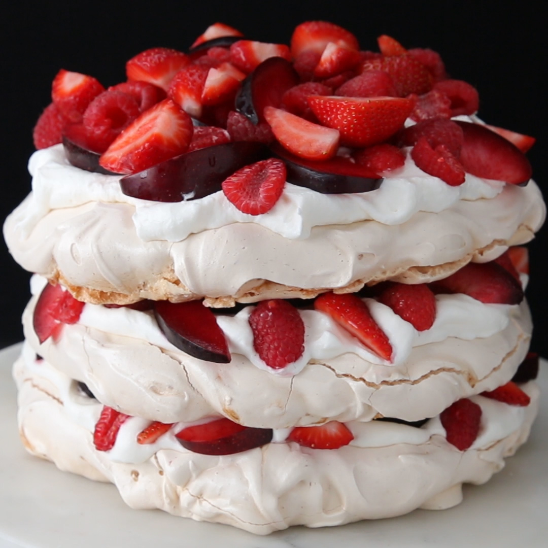 Berries And Cream Cloud Cake Recipe by Tasty