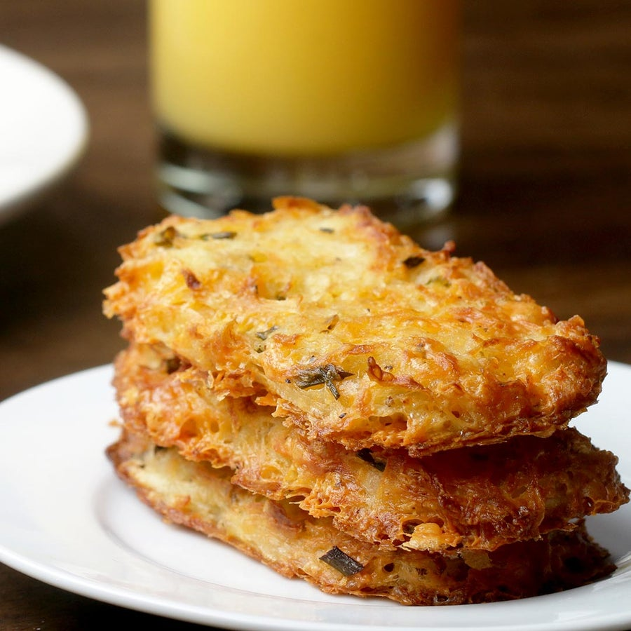 Cheesy Baked Hash Brown Patties