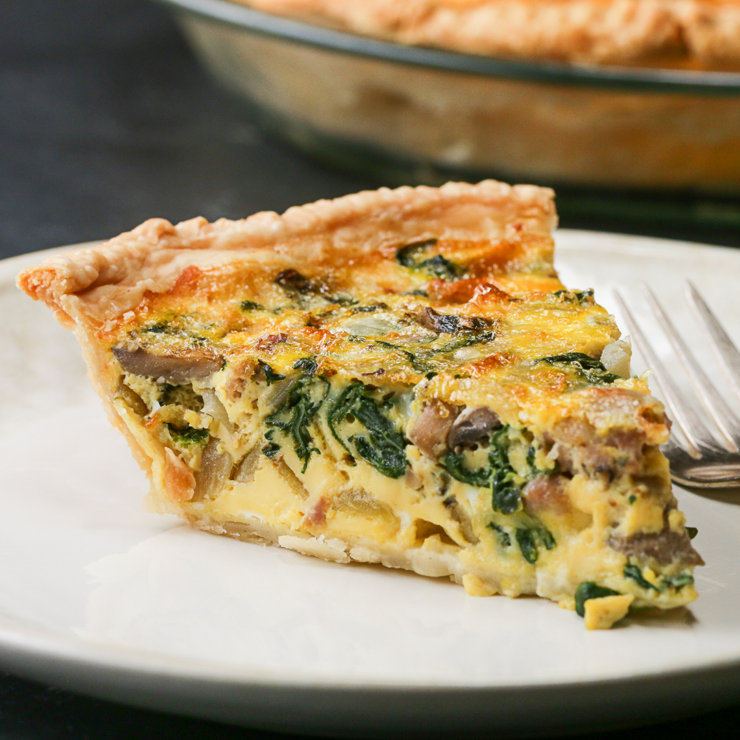 Sausage Veggie Quiche Recipe By Tasty