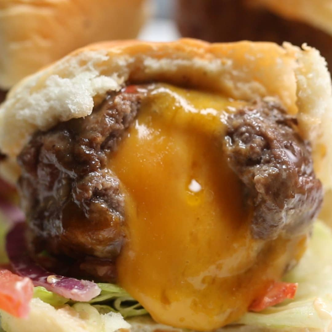 Cheese Stuffed Burger Bombs Recipe By Tasty