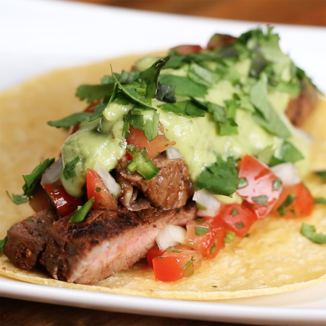 Chili Lime Steak Tacos Recipe by Tasty