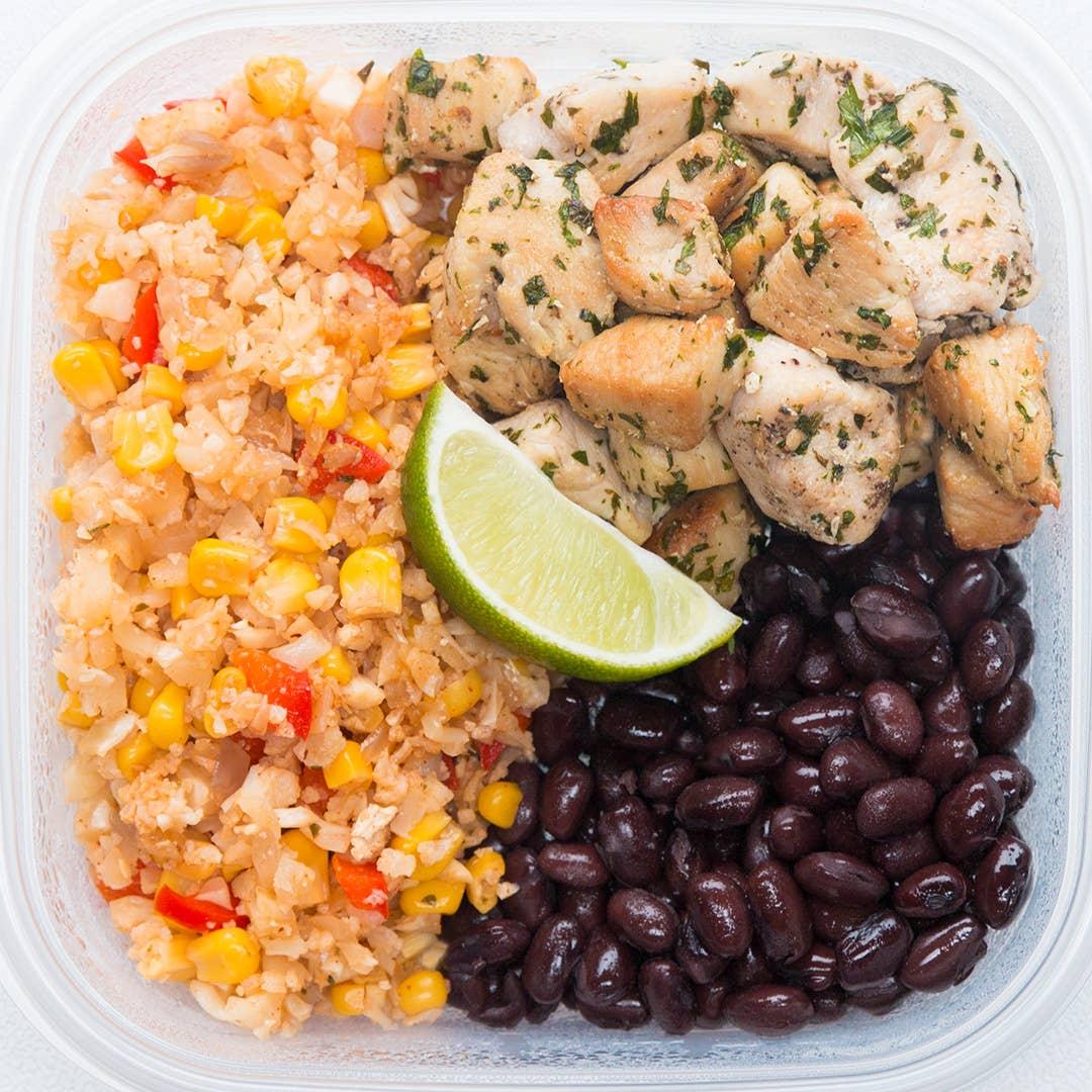 Cilantro Lime Chicken Veggie Rice Meal Prep Recipe By Tasty