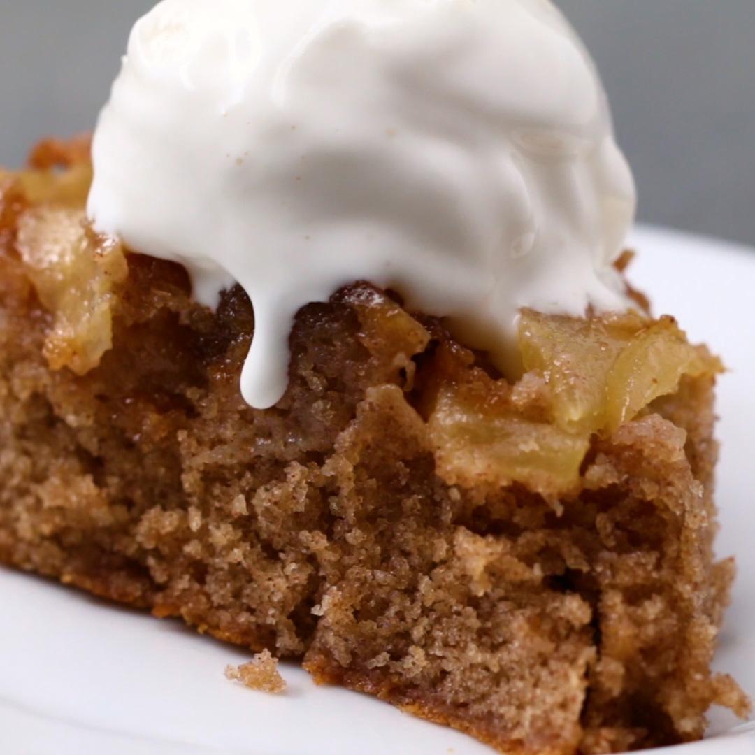Upside Down Apple Cake Recipe By Tasty