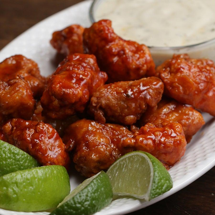 Honey Lime Sriracha Chicken Poppers