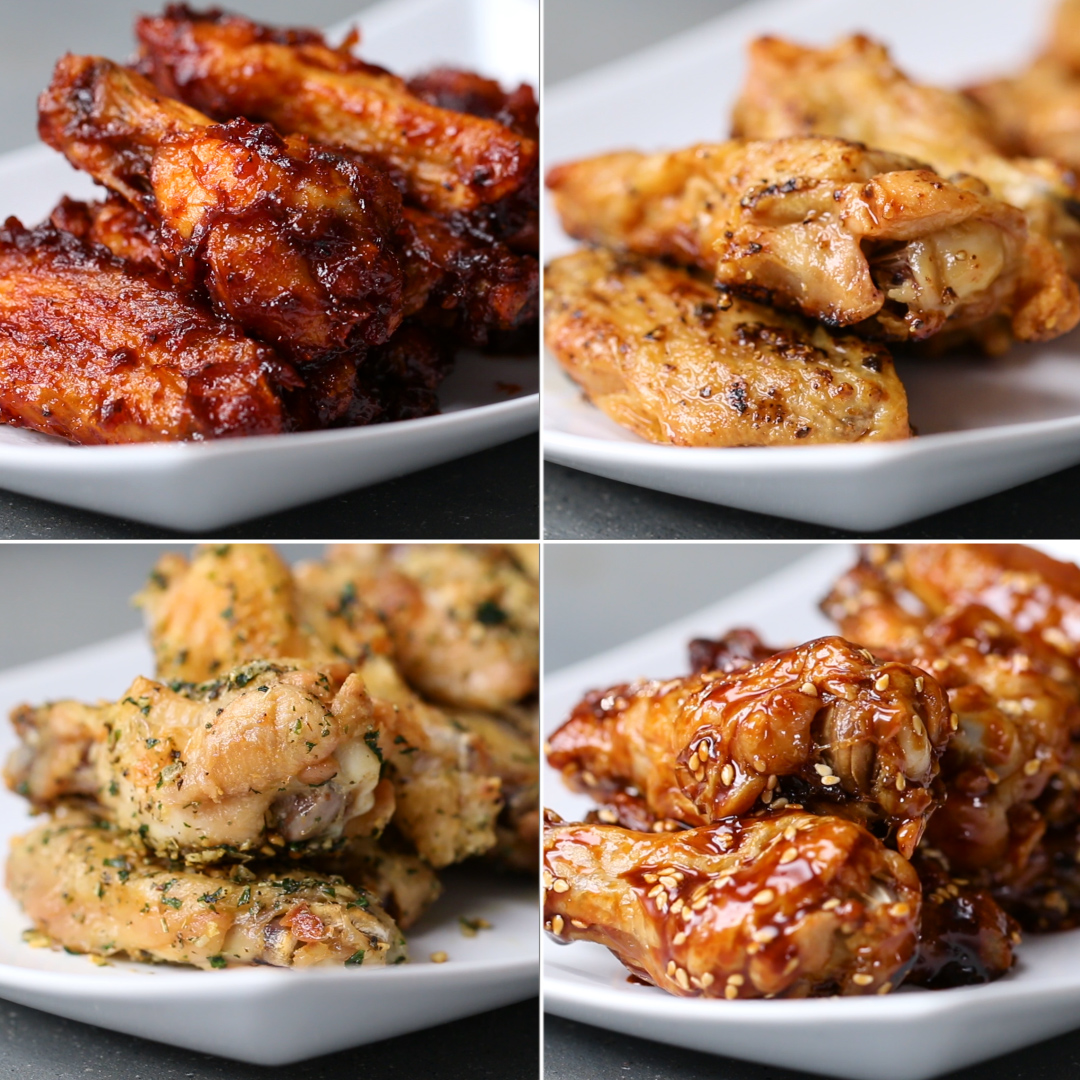 Oven baked chicken wings 4 ways recipes forumfinder Image collections