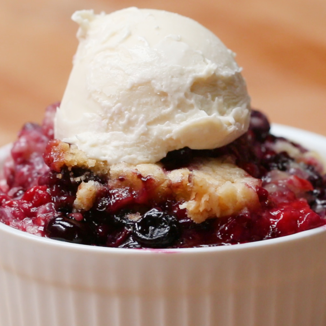 Slow Cooker Mixed Berry Cobbler Recipe By Tasty