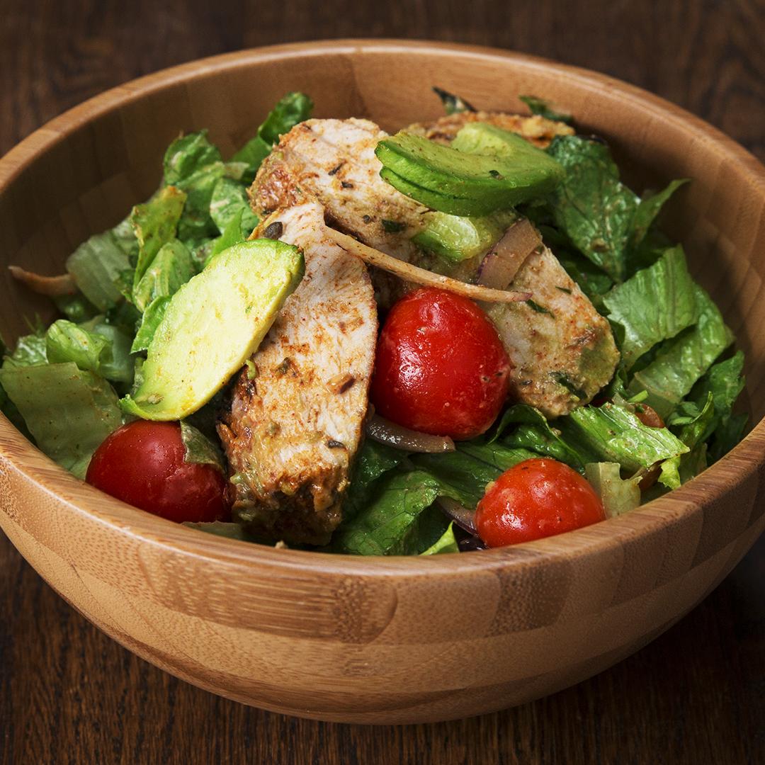 Honey Mustard Chicken, Bacon, And Avocado Salad By Tasty