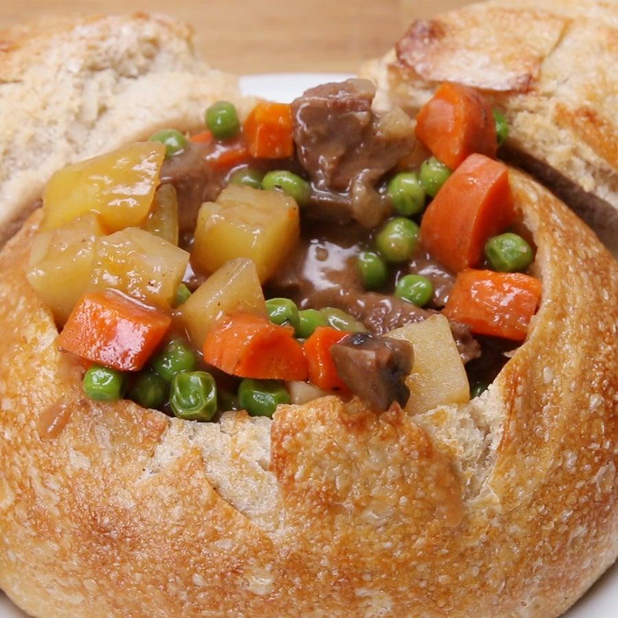 Disneyland's Slow-Cooked Beef Stew Bread Bowl