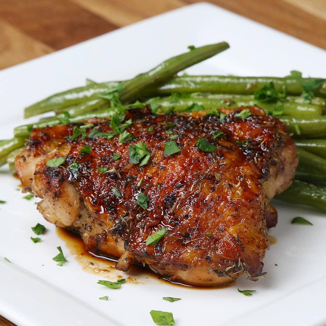One Pan Honey Garlic Chicken Recipe By Tasty