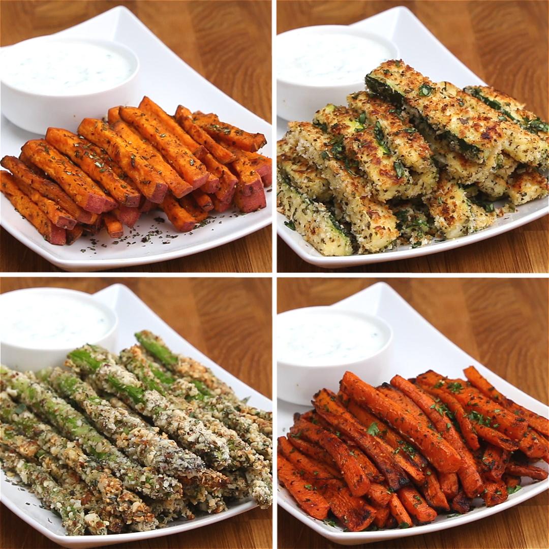 Veggie Fries 4 Ways | Recipes