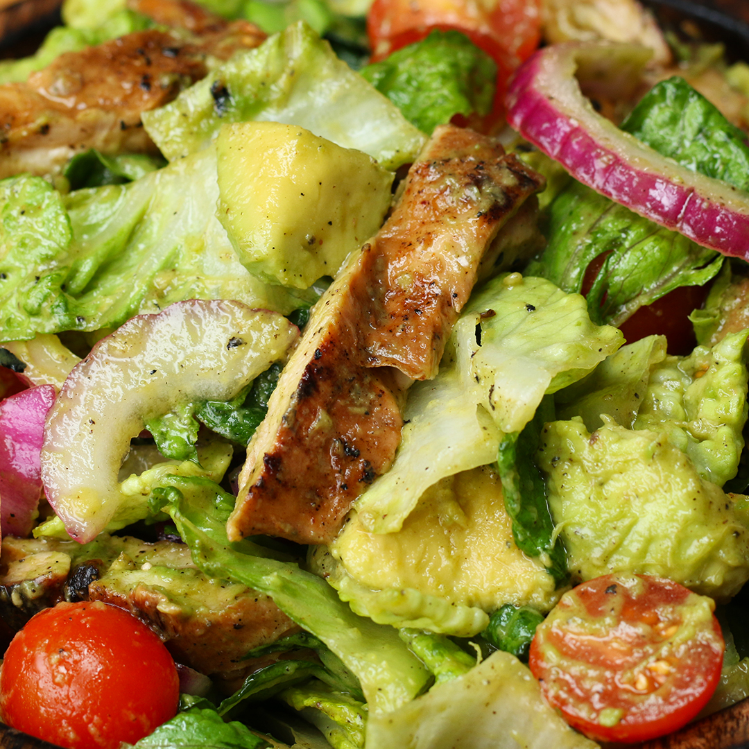 Honey Lime Chicken And Avocado Salad Recipe By Tasty