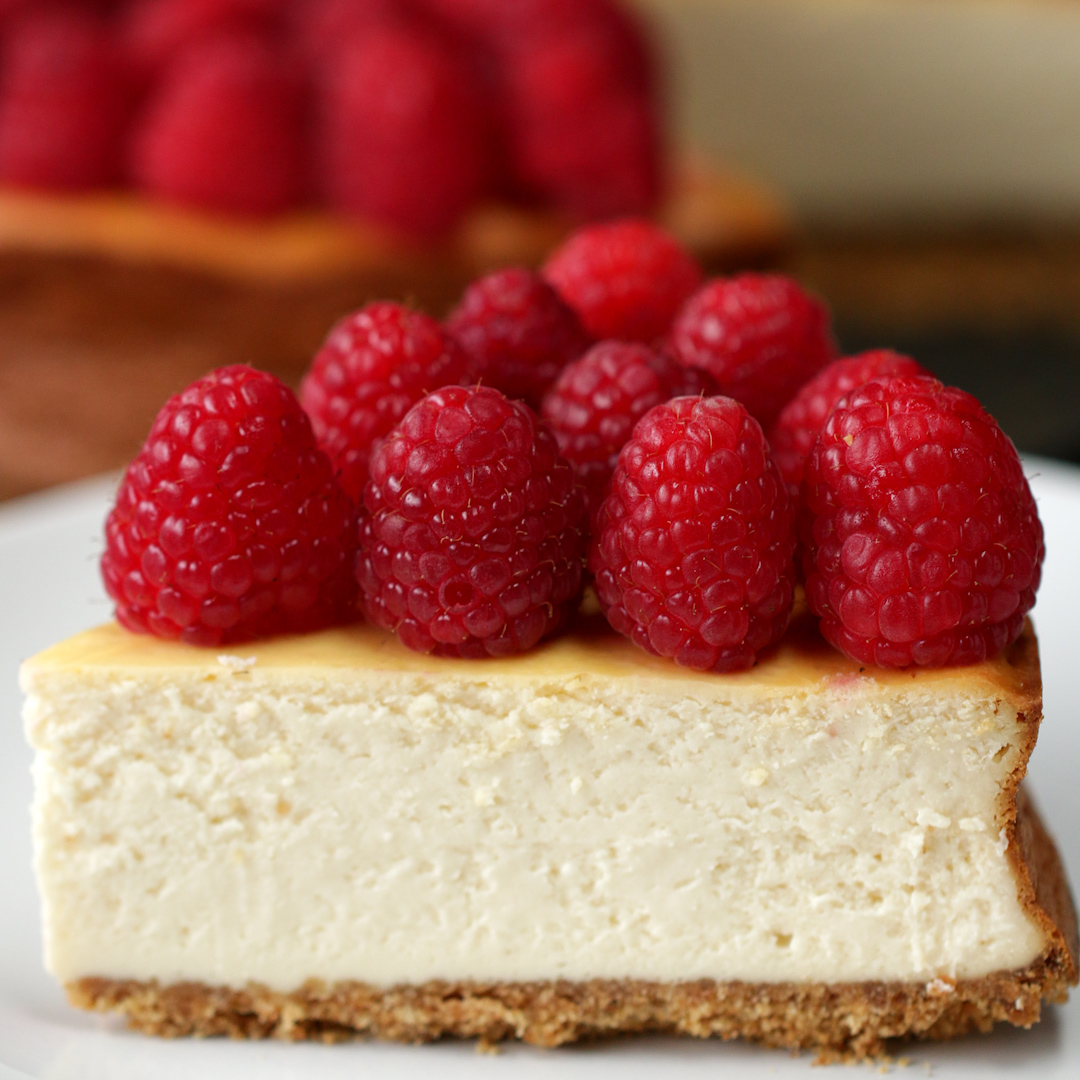 Lighter Raspberry Cheesecake Recipe By Tasty