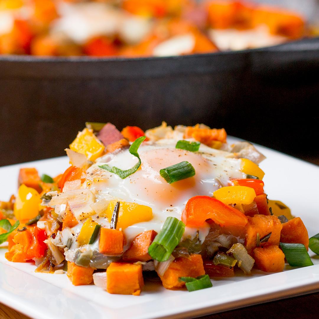 One Pan Sweet Potato Breakfast Hash Recipe By Tasty