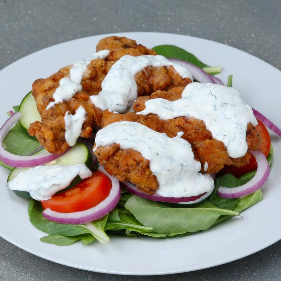 Buttermilk-fried Chicken Salad