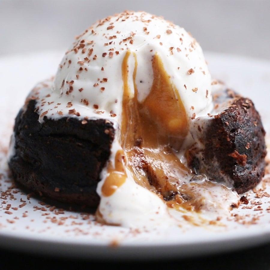 Chocolate Peanut Butter Lava Cake