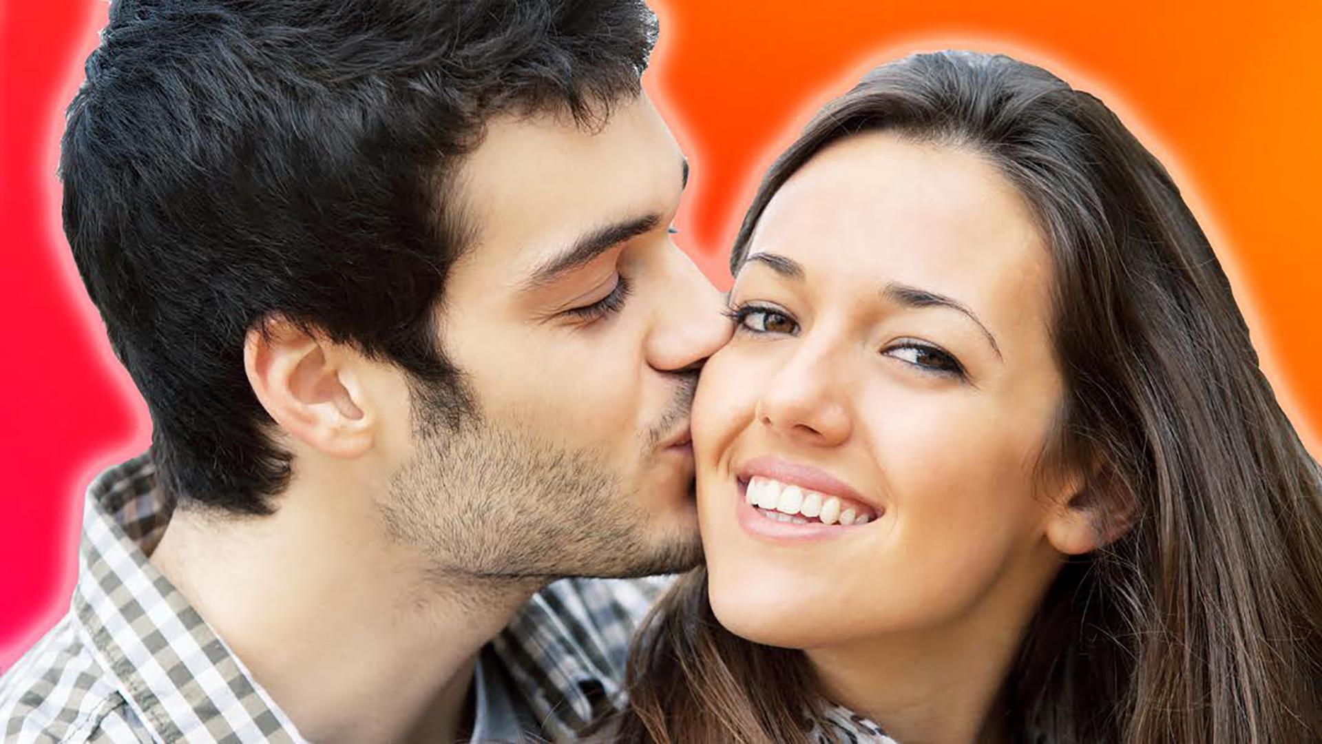 Прикольные картинки с поцелуем на щеке, сладкий открытка картинки