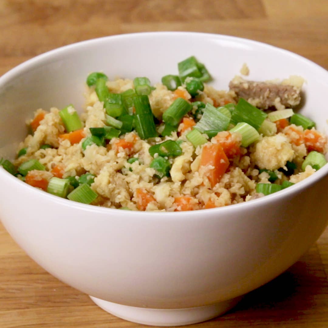 Healthy Cauliflower Fried Rice Recipe By Tasty