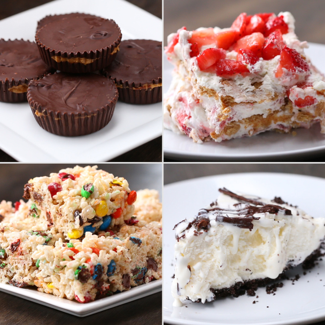 4 Easy 3 Ingredient No Bake Desserts Recipes