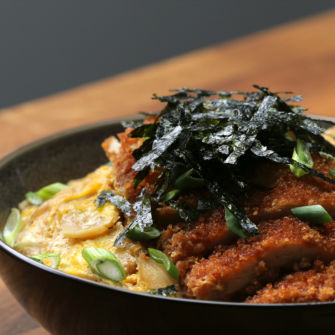 Fried Chicken And Egg Rice Bowl Recipe By Tasty