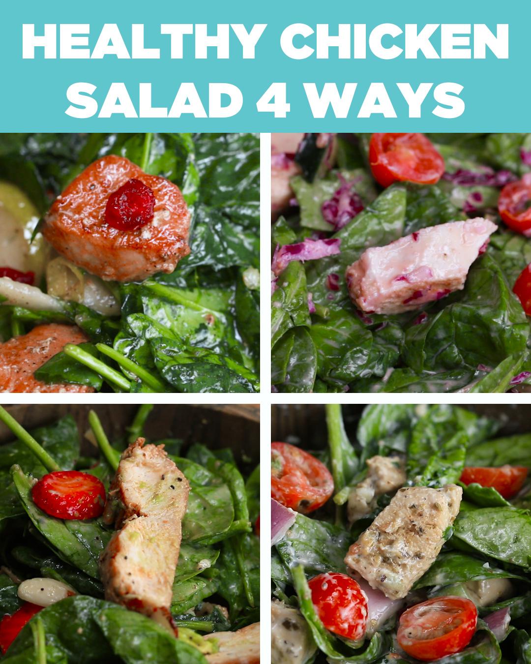 Healthy Chicken Salads 4 Ways Recipes