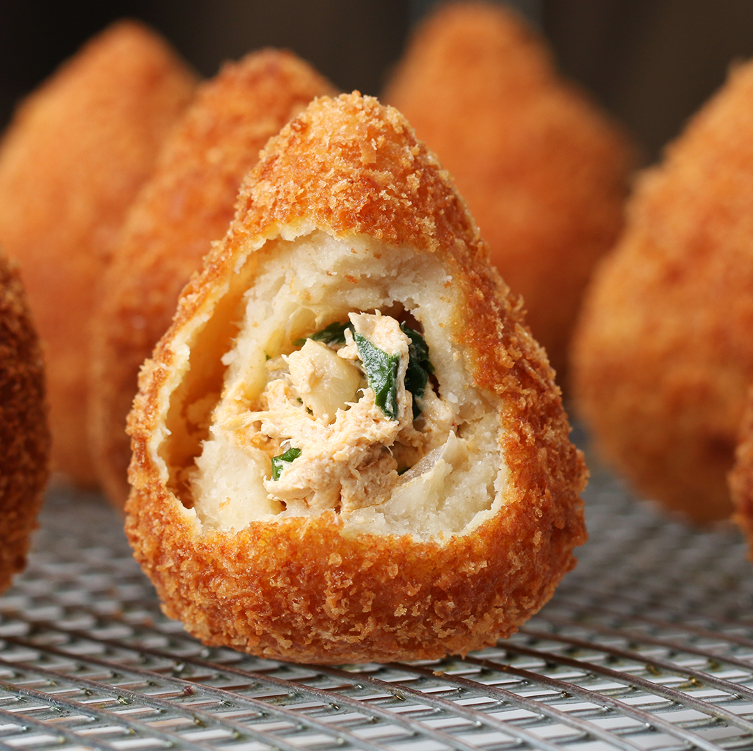 Brazilian Chicken Croquettes Coxinha Recipe By Tasty