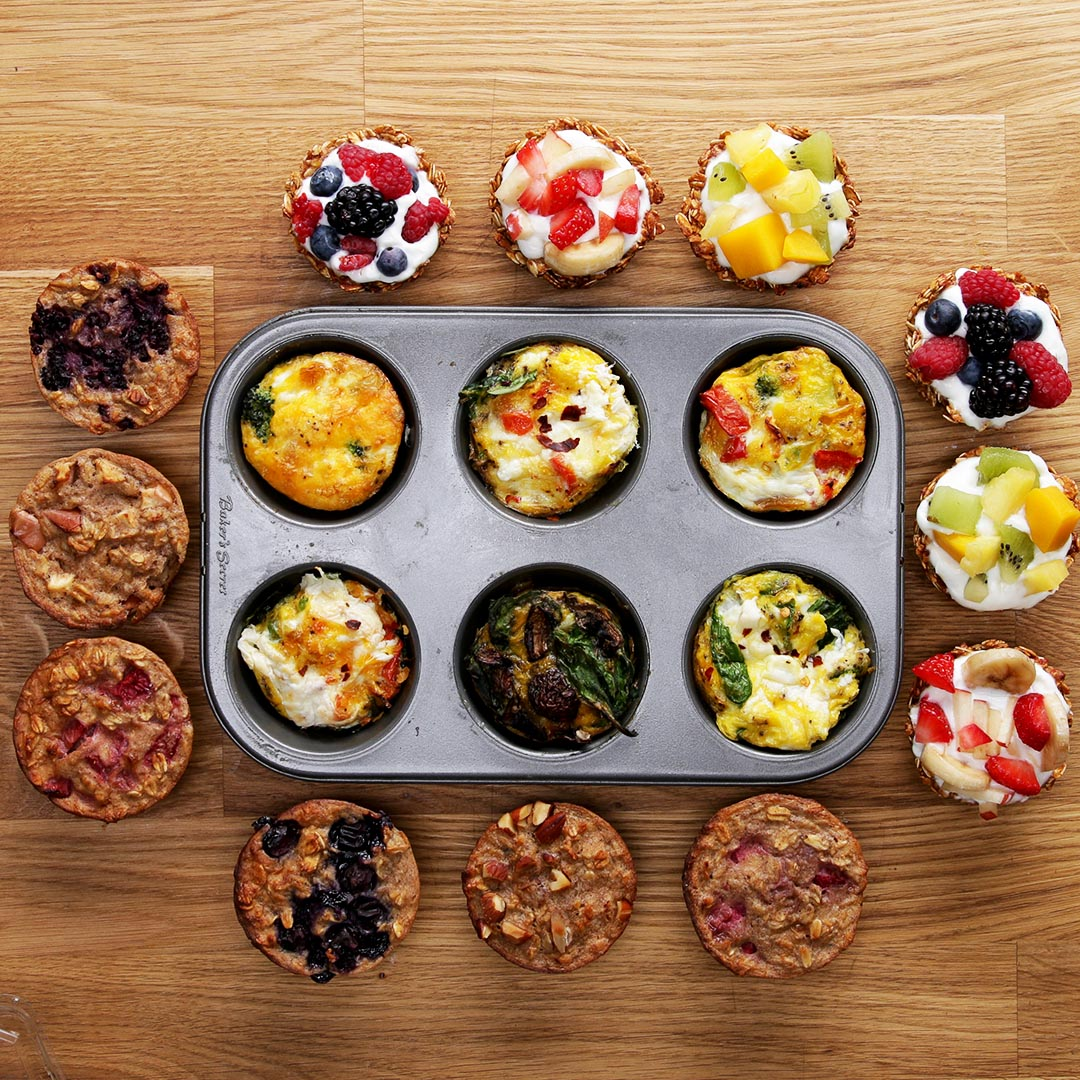 3 Muffin Tin Healthy Breakfasts #TastyFreshFriday   Recipes