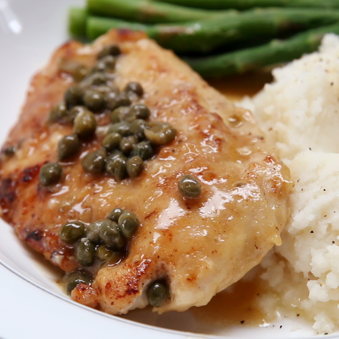Easy Chicken Piccata Recipe By Tasty