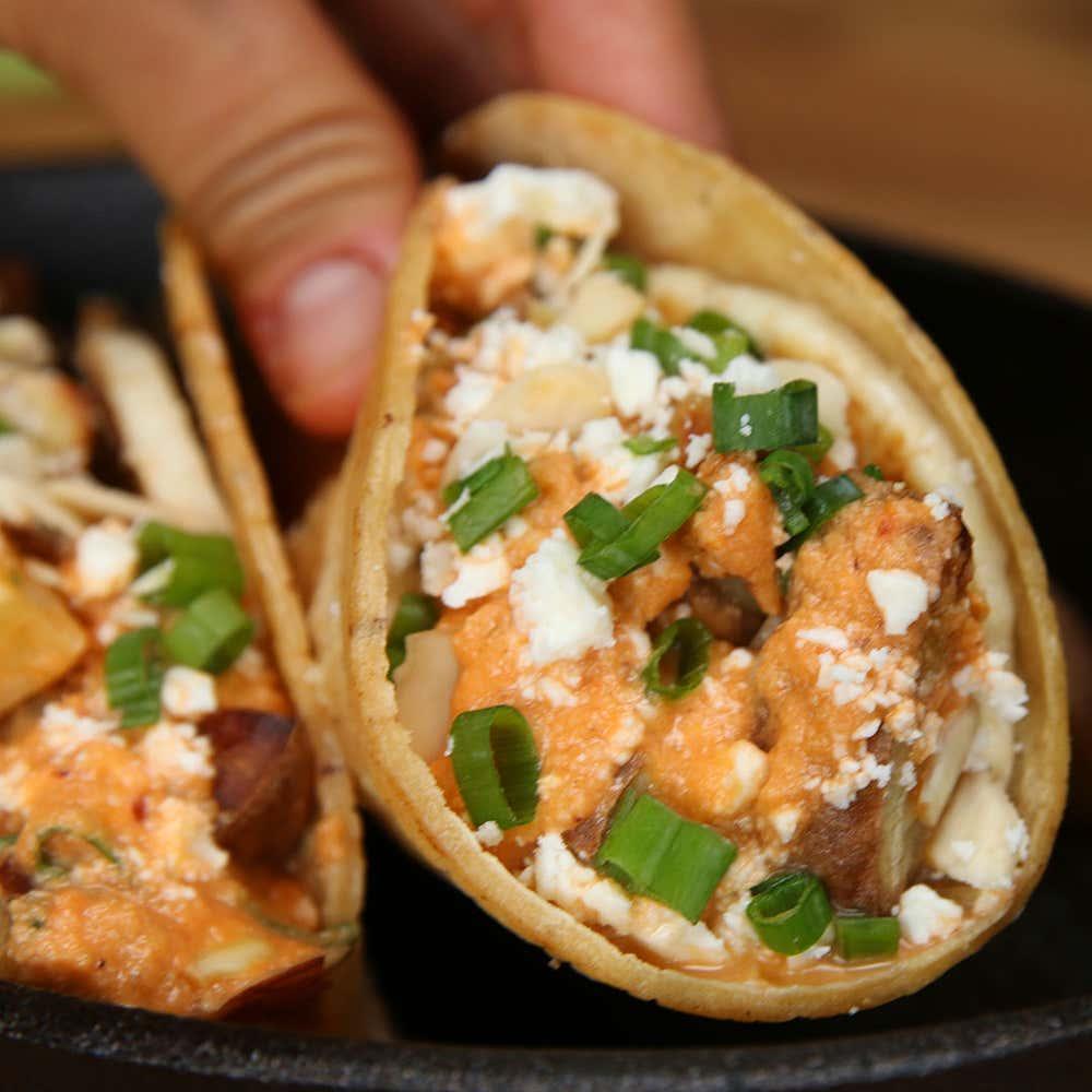 Sweet Potato Breakfast Tacos: Sweet Potato Guerrilla Tacos Recipe By Tasty