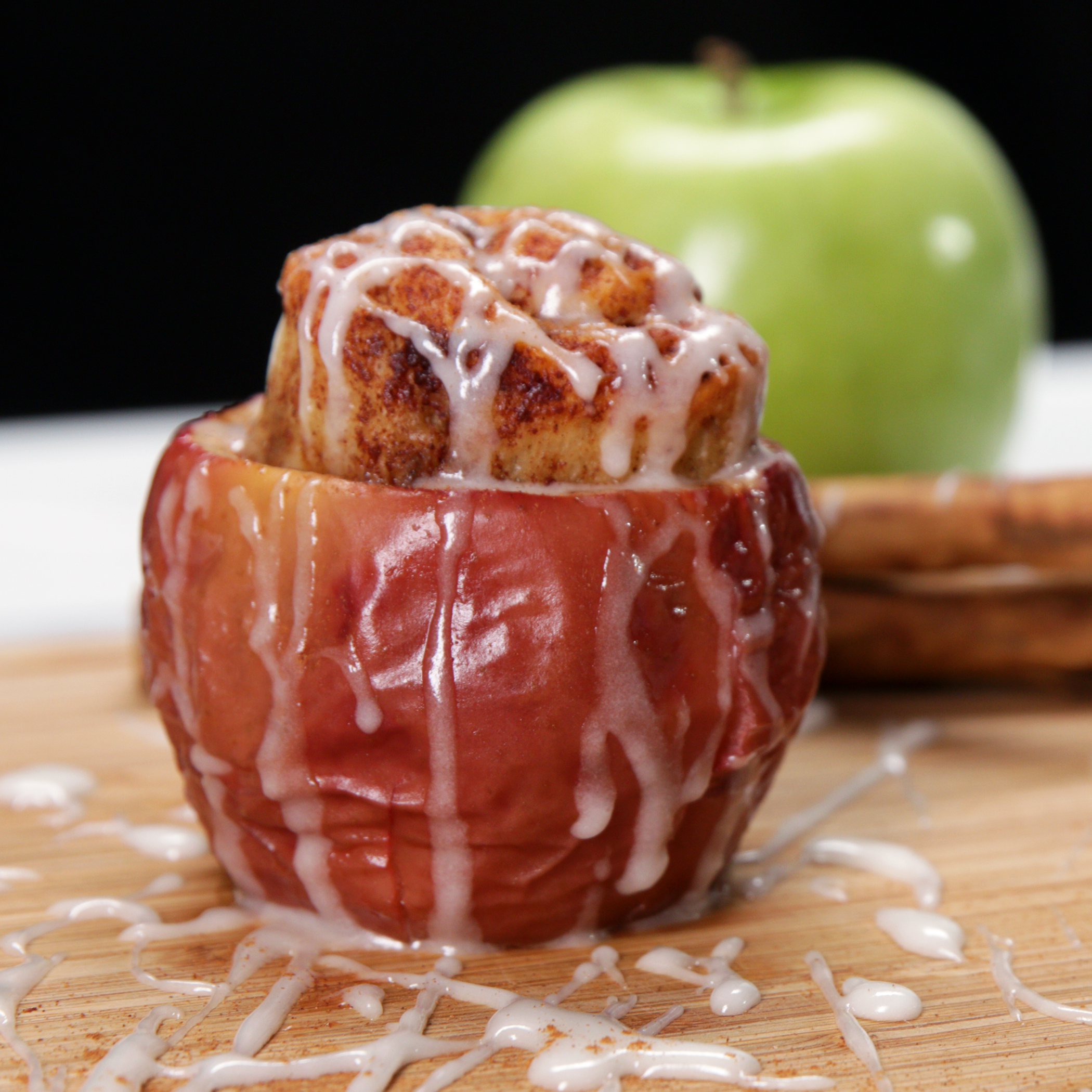 Cinnamon Roll Stuffed Baked Apples Recipe By Tasty