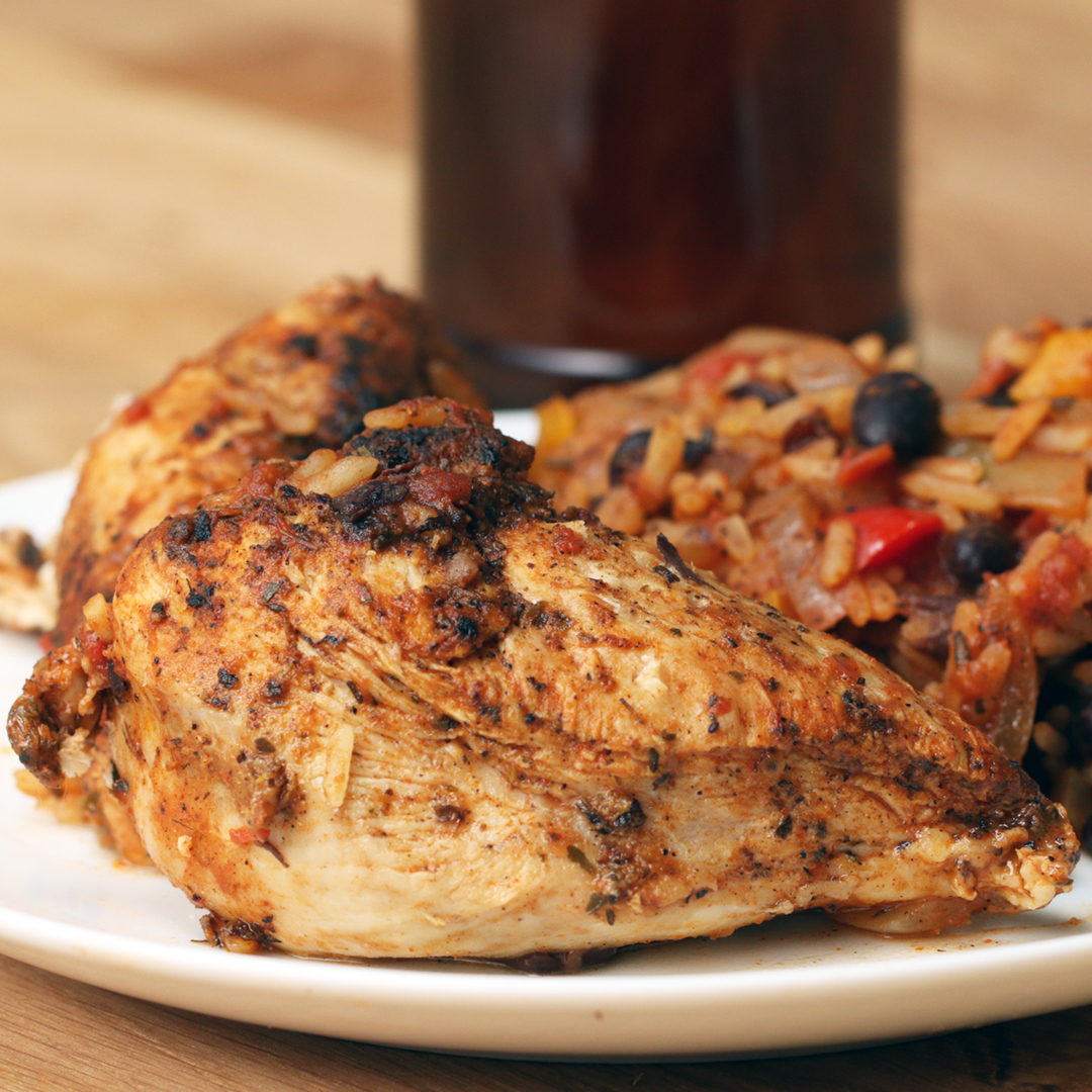 One Pot Cajun Chicken & Rice Recipe by Tasty image