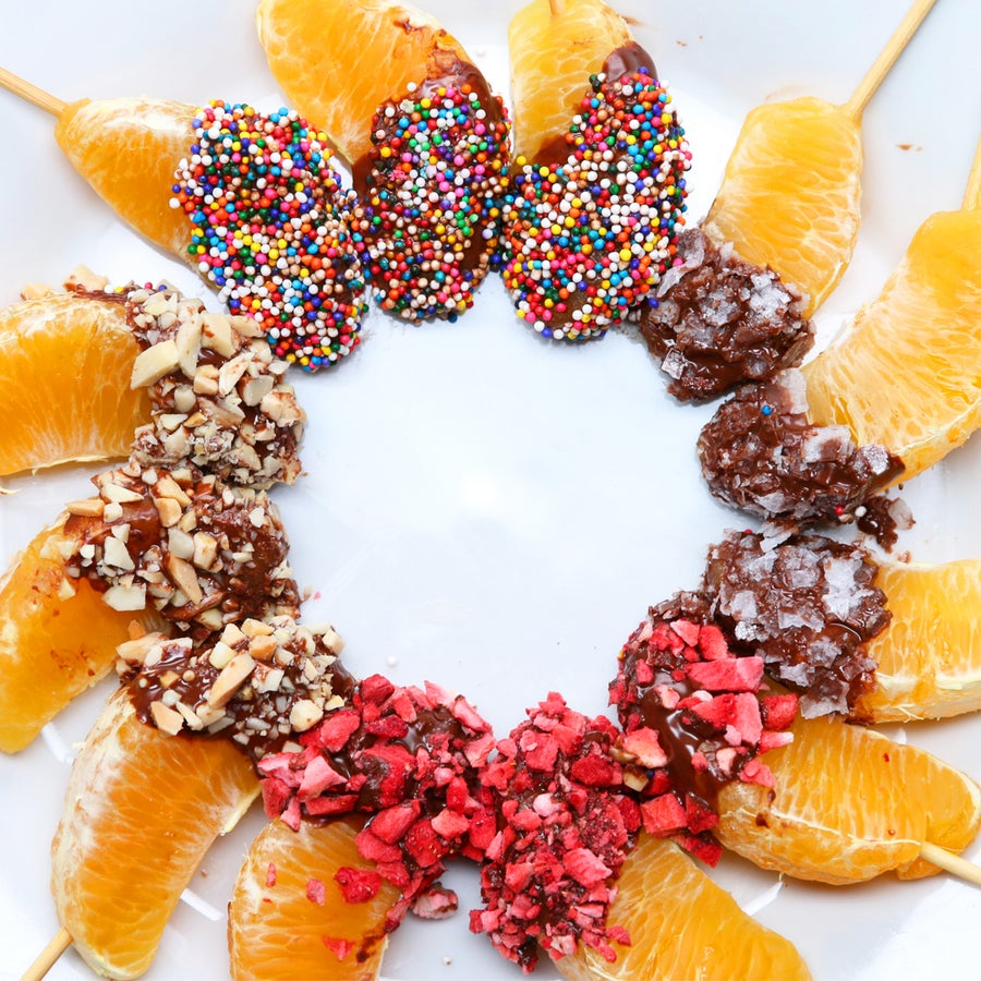 Chocolate-Dipped Oranges