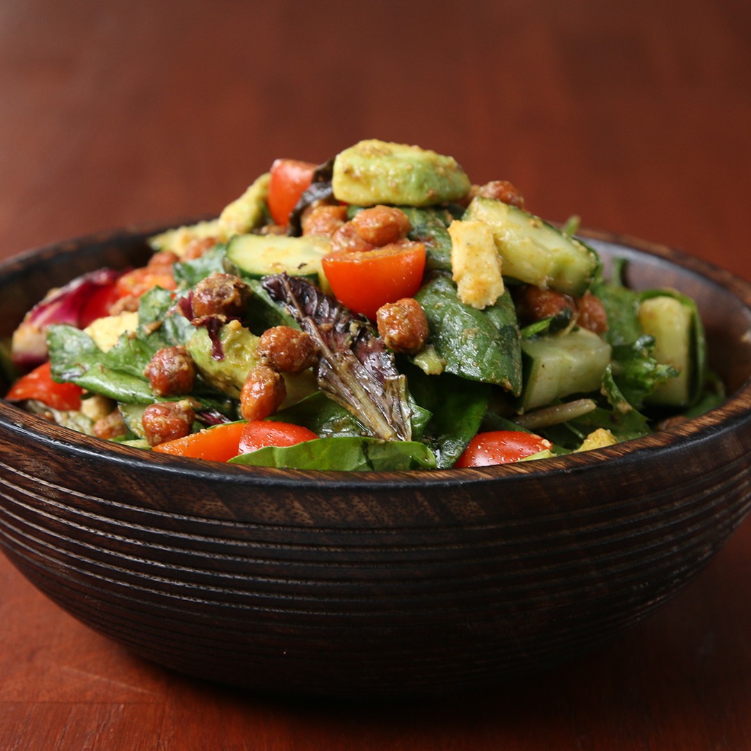 Roasted Chickpea And Avocado Salad Recipe By Tasty