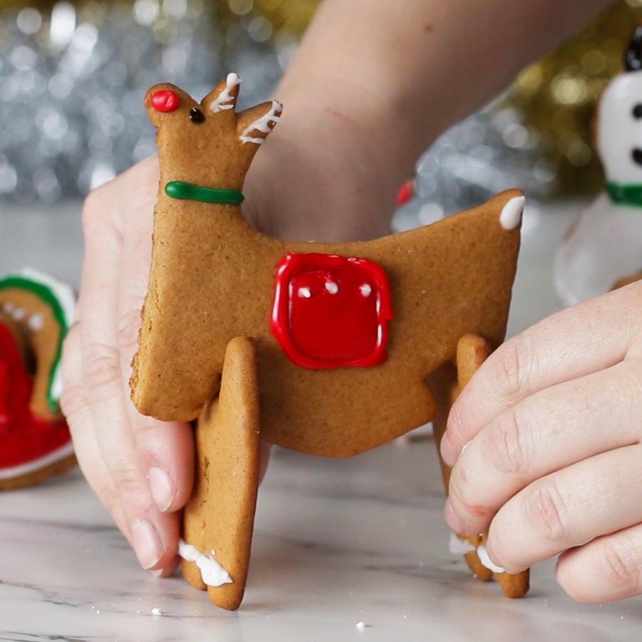 Gingerbread 3D Cookies 4 Ways