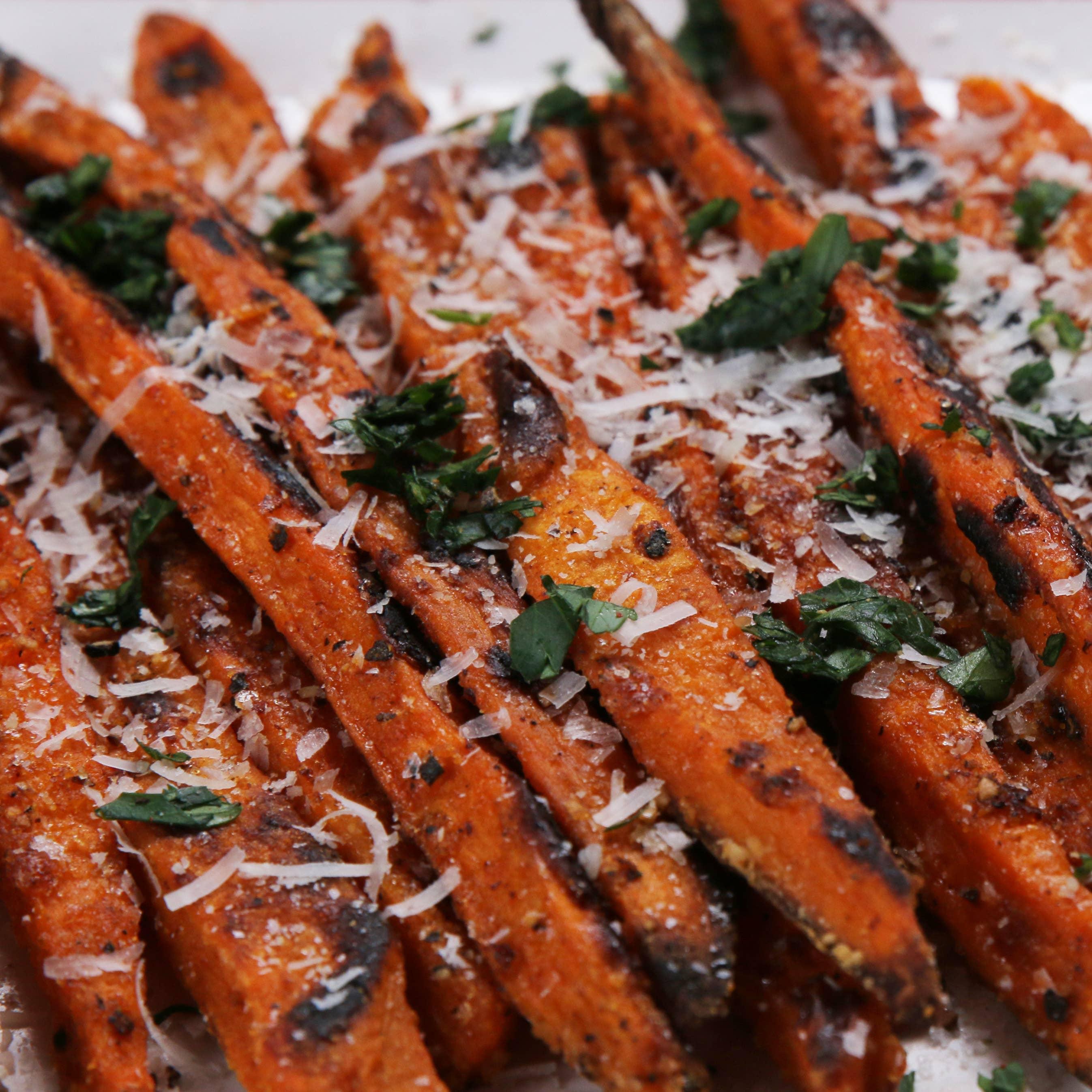 Baked Sweet Potato Fries Recipe By Tasty