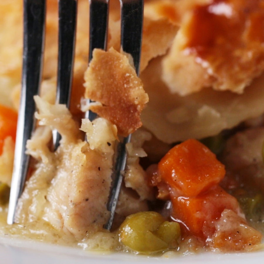 One-skillet Chicken Pot Pie