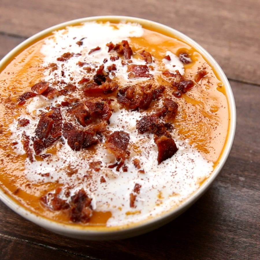 Maple Bacon Sweet Potato Soup