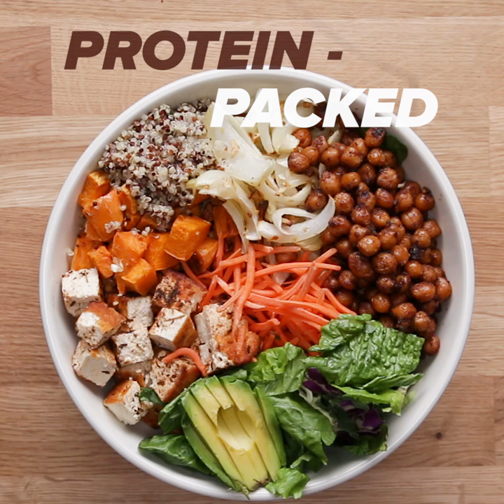 Protein Packed Buddha Bowl Recipe By Tasty